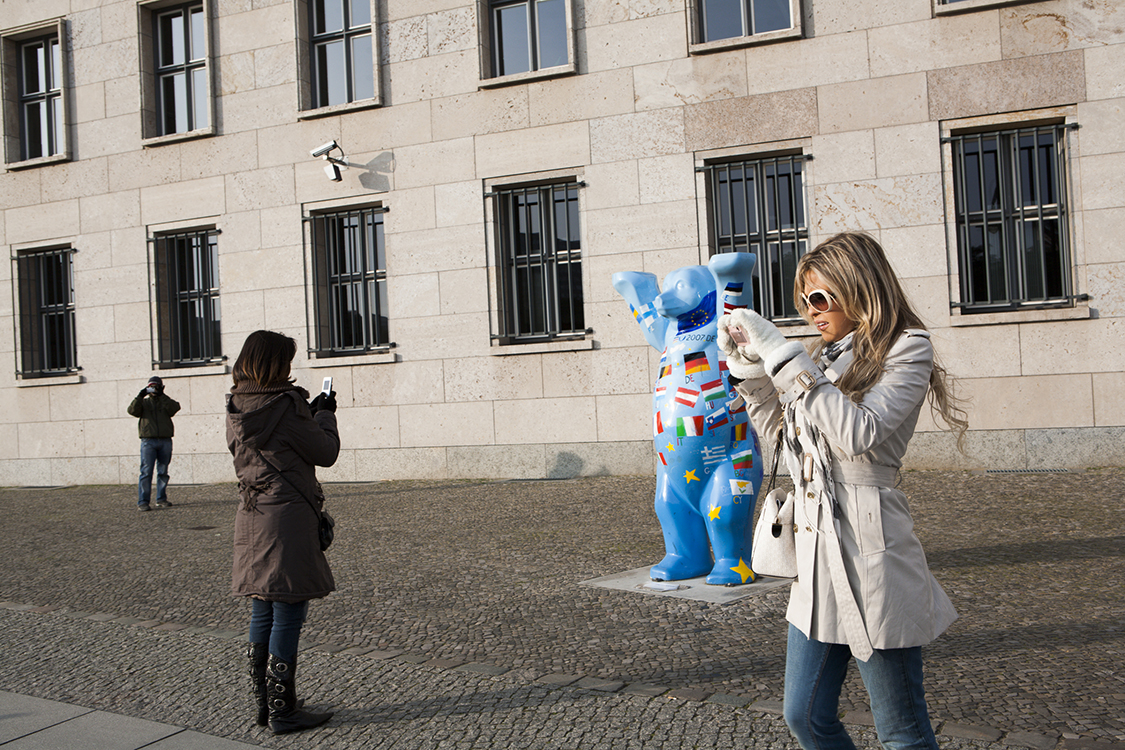 Tourists at former Reich Air Ministry headquarters