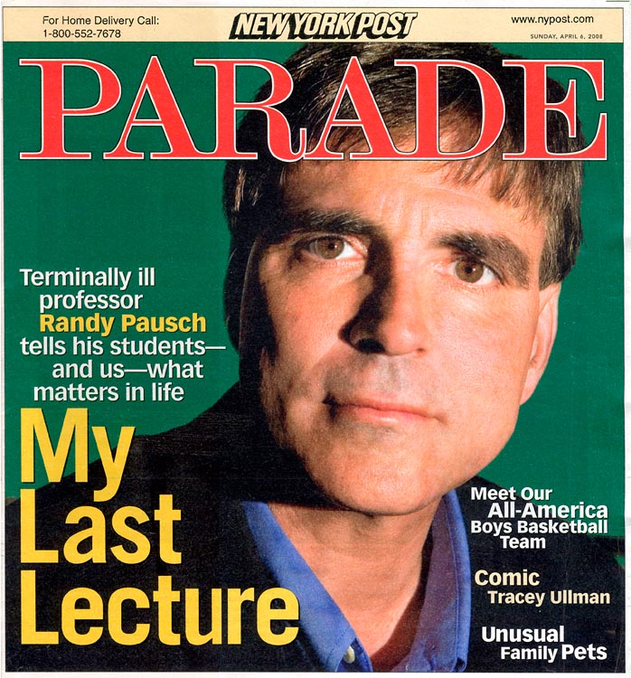Portrait feature story on Randy Pausch, 2008.