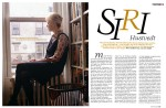 Author Siri Hustvedt portrait profile, 2008.