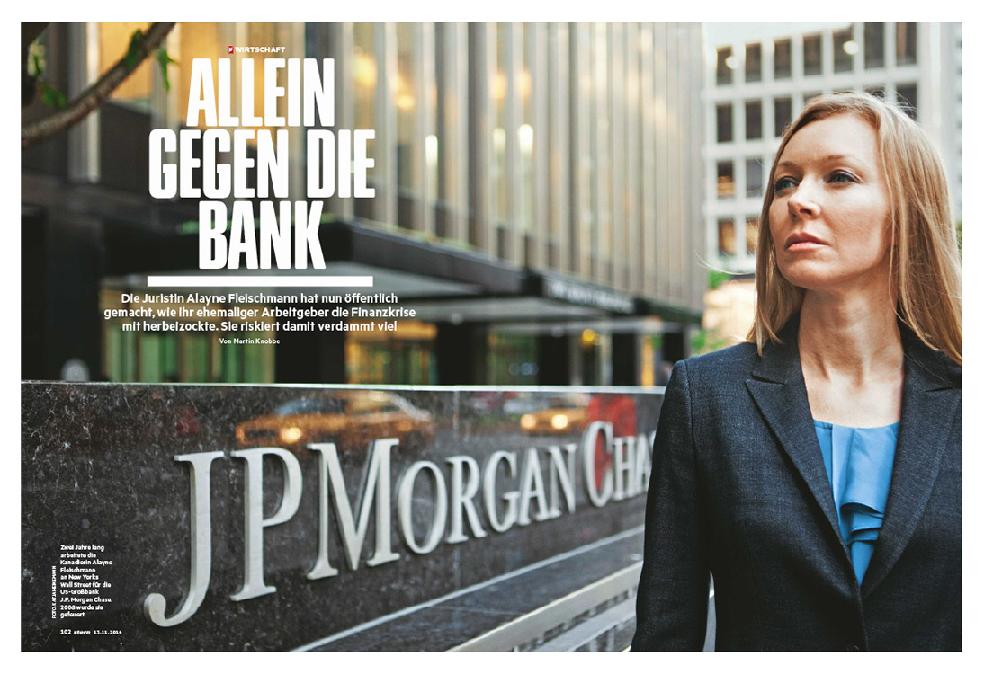Wall Street whistle blower Alayne Fleischmann, 2014.