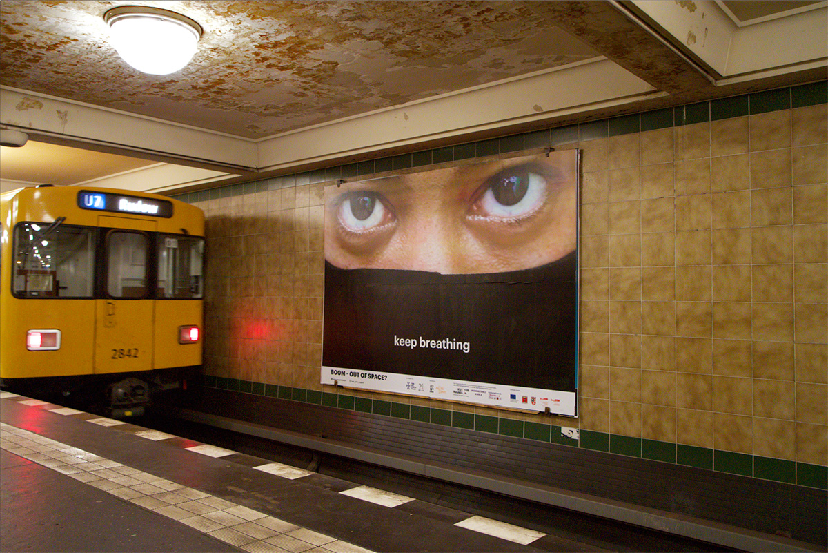 BOOM –Out Of Space? billboard projectA collaboration with Young Arts Neukölln, June 2020.