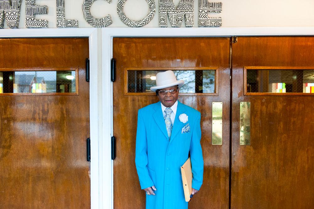 Deacon White celebrates his 98th Birthday.