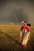Natalie Hand checks out rainbow