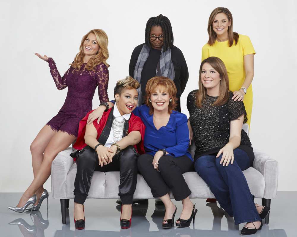 THE VIEW - {quote}The View{quote} is the place to be heard ! Season 19 delivers live broadcasts five days a week with a dynamic team of panelists led by moderator Whoopi Goldberg, with co-hosts Joy Behar, Candace Cameron Bure, Michelle Collins, Paula Faris and Raven-Symone´.  {quote}The View{quote} airs Monday-Friday (11:00 am-12:00 pm, ET) on the ABC Television Network.    (ABC/Heidi Gutman)CANDACE CAMERON BURE, RAVEN-SYMONE´, JOY BEHAR, WHOOPI GOLDBERG, MICHELLE COLLINS, PAULA FARIS