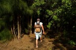 At 33, Chris Tuliano is homeless.  Here, he makes his way to a camp in the woods that he shares with his step-father, Bobby Hyers, 47.  Alcoholism is the main reason the pair are homeless.  They are part of a rising number of homeless in the Vero Beach area.  Due to the warm weather, the homeless are able to live outside year-round.  There are women who also live in the woods and families that live in their cars.  And, for a few who have chosen a harder path, there has been success and a way out of their despair.