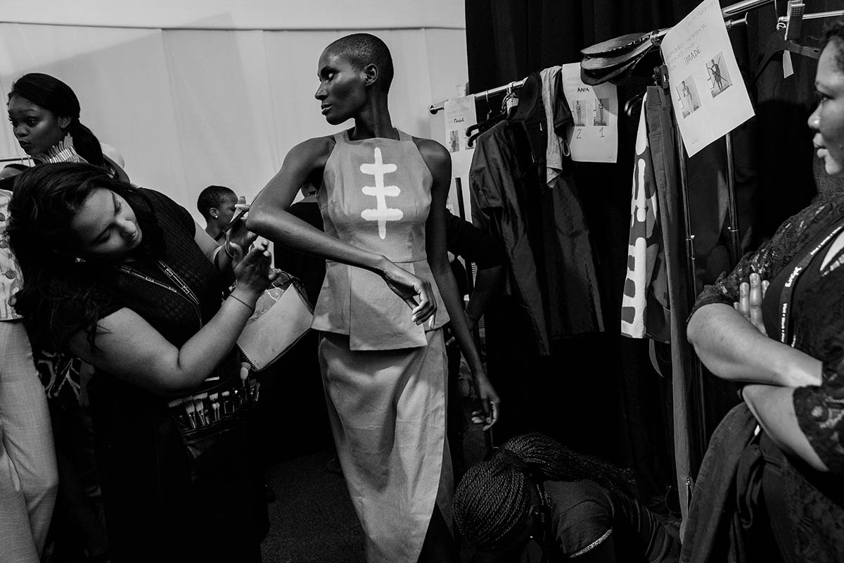 Kiko Romeo, a Kenyan fashion house founded by Ann McCreath nearly two decades ago at he Mercedes Benz Fashion Week South Africa at Melrose Arch in Johannesburg.