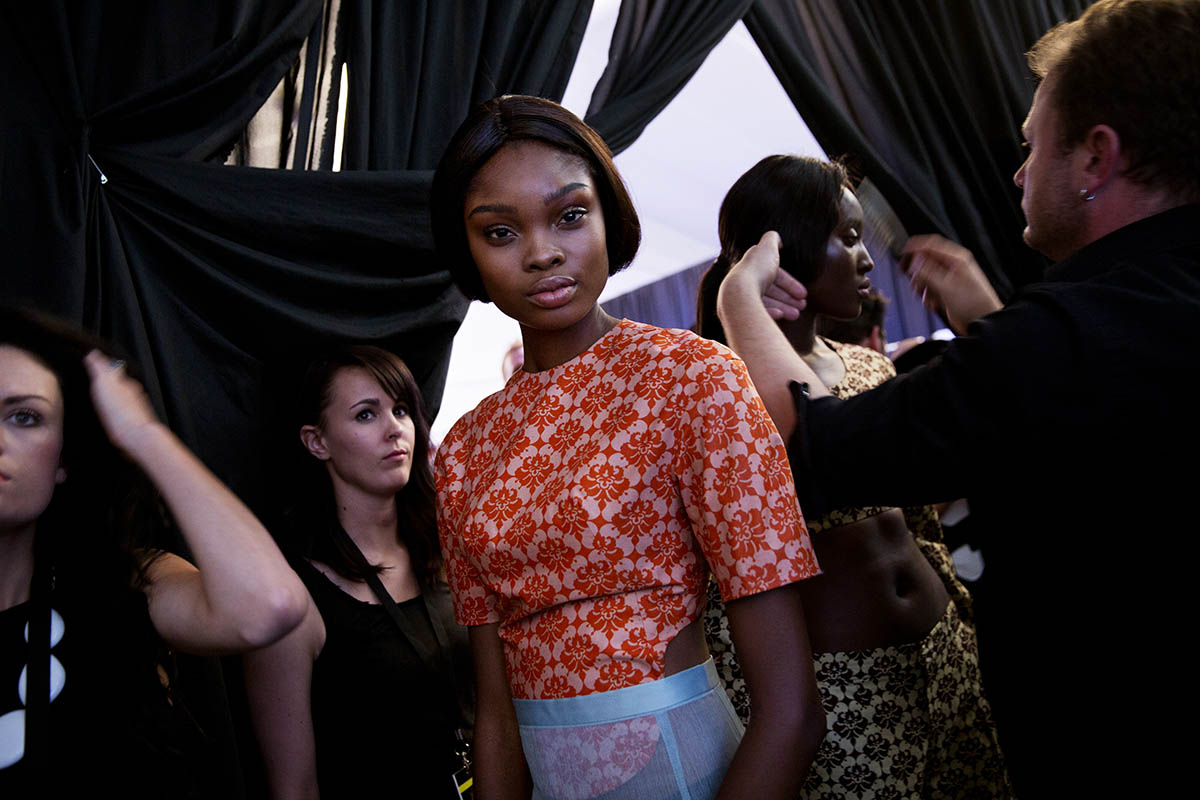 Loza Maléombho a fashion house established in  New York City with it's production being done in Côte d'Ivoire, Ivory Coast, West Africa., at the Mercedes Benz Fashion Week South Africa at Melrose Arch in Johannesburg.