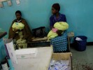 Women wait at the maternity ward at Bottom Hospital in Lilongwe. May 2004