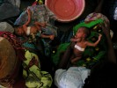 Women tend to their babies at the nursery in The Bottom Hospital in Lilongwe. May 2004