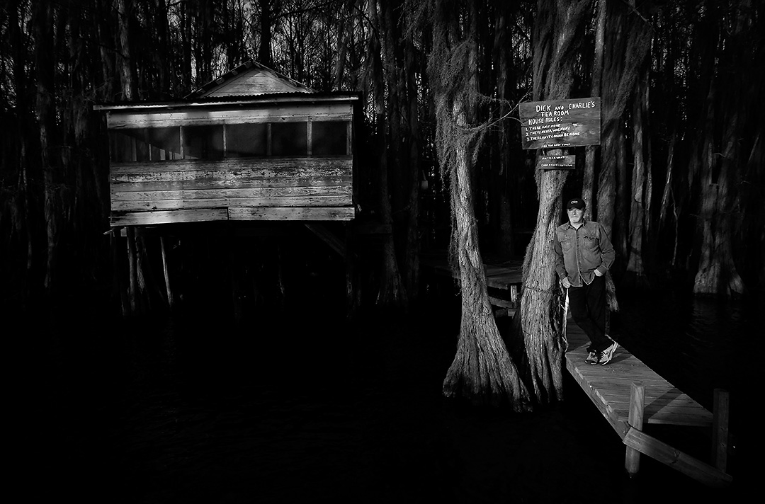 Don Henley stands on the pier of a defunct bar on Caddo Lake Friday, April 8, 2011 near Uncertain, Texas. Henley, a Gilmer native and iconic musician, underwrites the Caddo Lake Institute, Inc. The foundation aims to safeguard the lake's ecology and cultural identity.