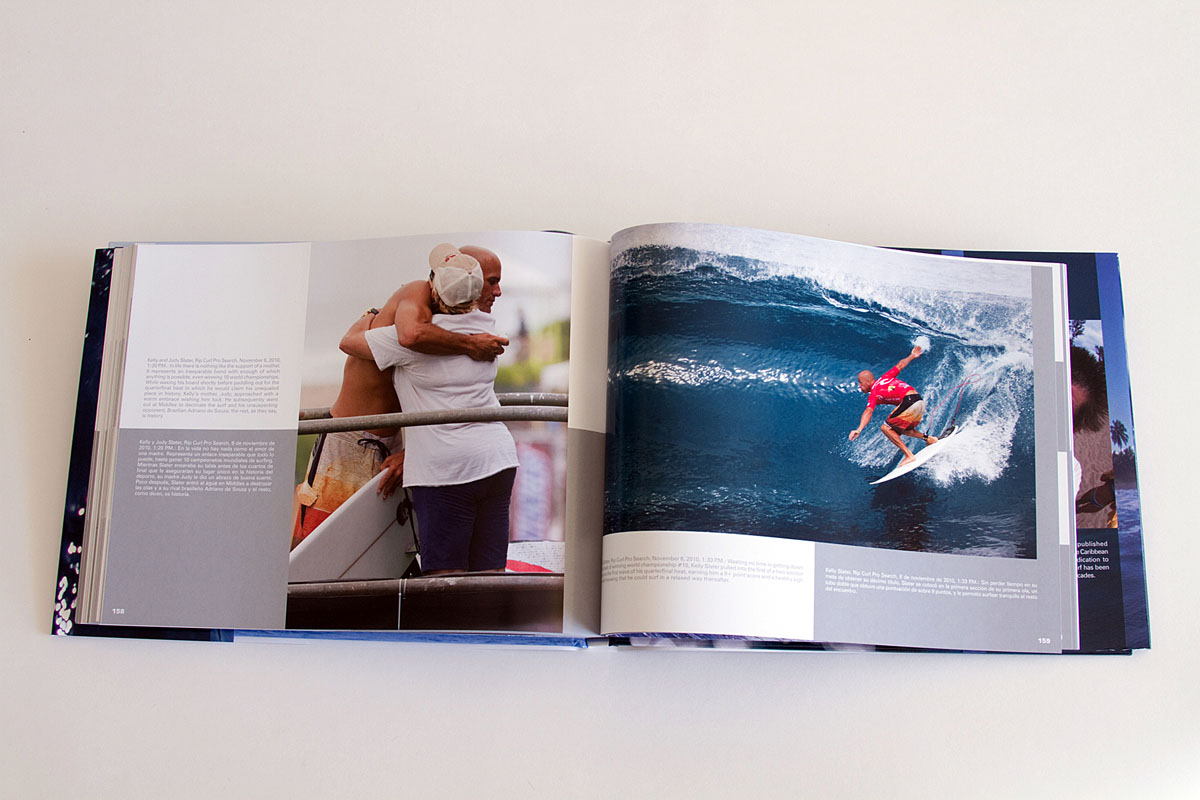 After the main body of the book you'll find a section about the 2010 Rip Curl Pro Search during which Kelly Slater clinched his record 10th ASP World Championship illustrated with captures of moments everyone witnessed and others seen by very few.Click here to purchase.