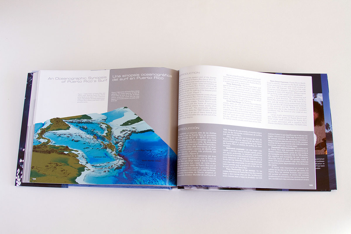 Finally, the book's last section is an oceanographic synopsis of the reasons behind the quality of the surf in Puerto Rico written by PhD oceanographer and Puerto Rican local, Miguel Canals.Click here to purchase.