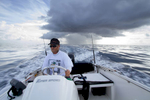 Fishing off the coast of Jupiter, Florida with angler, David Dixon.