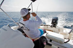 Fishing off the coast of Jensen Beach, FL with David Dixon in his 15' Whaler.