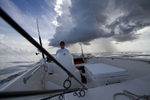 Fishing off the coast of Jupiter, Florida with angler, David Dixon.