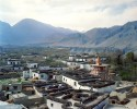 Tzarang. With some 400 inhabitants, it is one of the biggest villages after the capital Lo-Manthang. At an altitude of 10,950 feet, this is a village of narrow streets and traditional houses as well as numerous Buddhist monuments such as chortens.