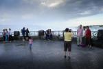 Tourists at Niagara Falls.