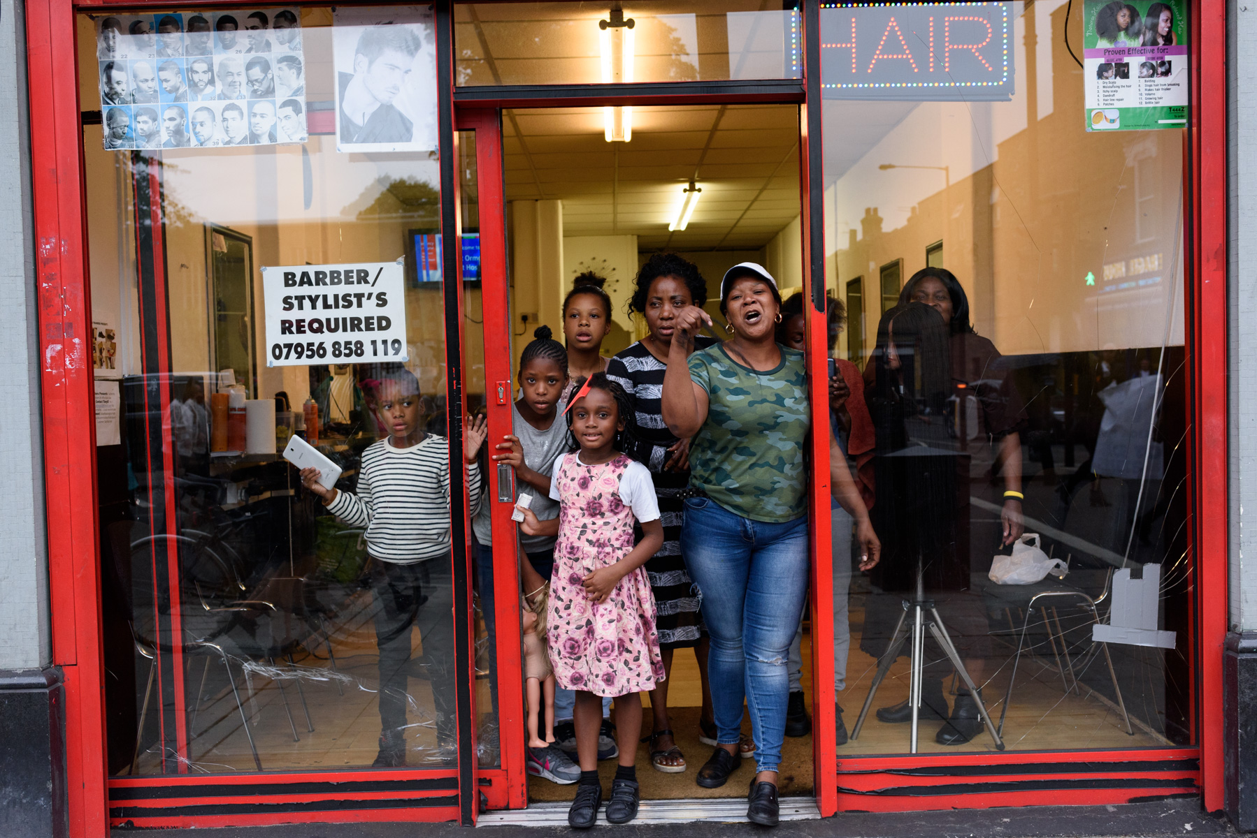 Hair salon, Kingsland Road