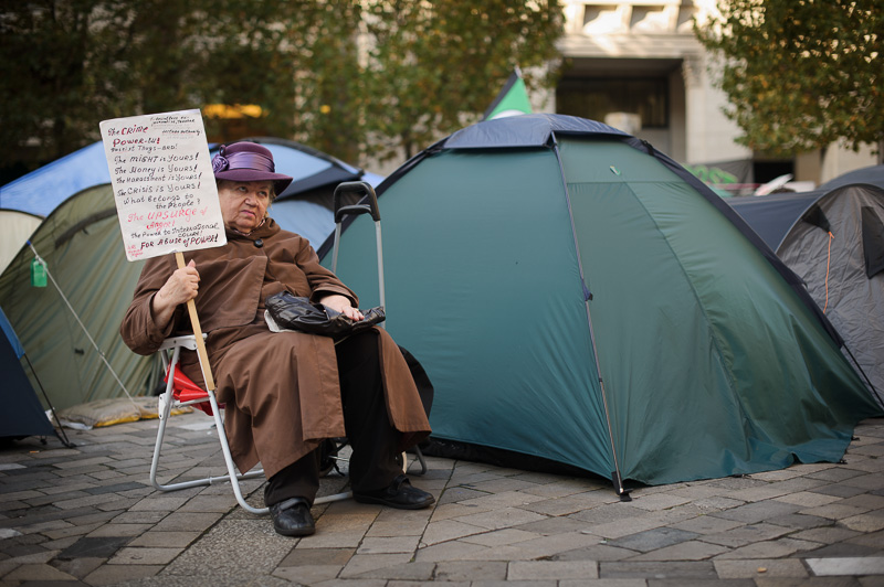 Occupying the grounds of St Paul's Cathedral, London.