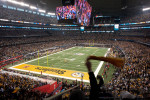 Arlington, Texas.    Steeler Nation comes alive during the opening kickoff of Super Bowl XLV at Cowboys Stadium in Arlington, Texas against the Green Bay Packers. / Vincent Pugliese