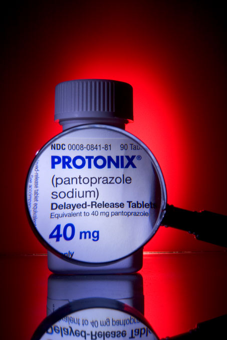Ulcer drug Pantoprazole, sold in the U.S. for Altana by Wyeth under the name Protonix.