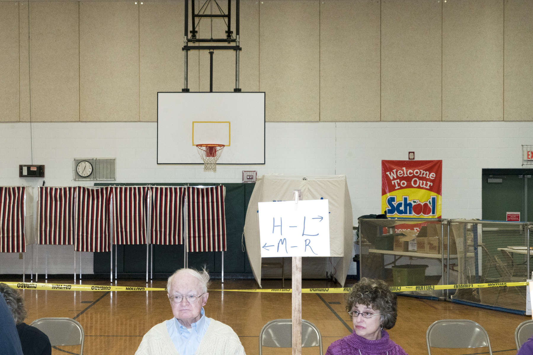 2016.  Nashua, NH.  USA. A polling station in Nashua on Primary Day.  Donald Trump ultimately won the Republican primary and Bernie Sanders won the Democratic.