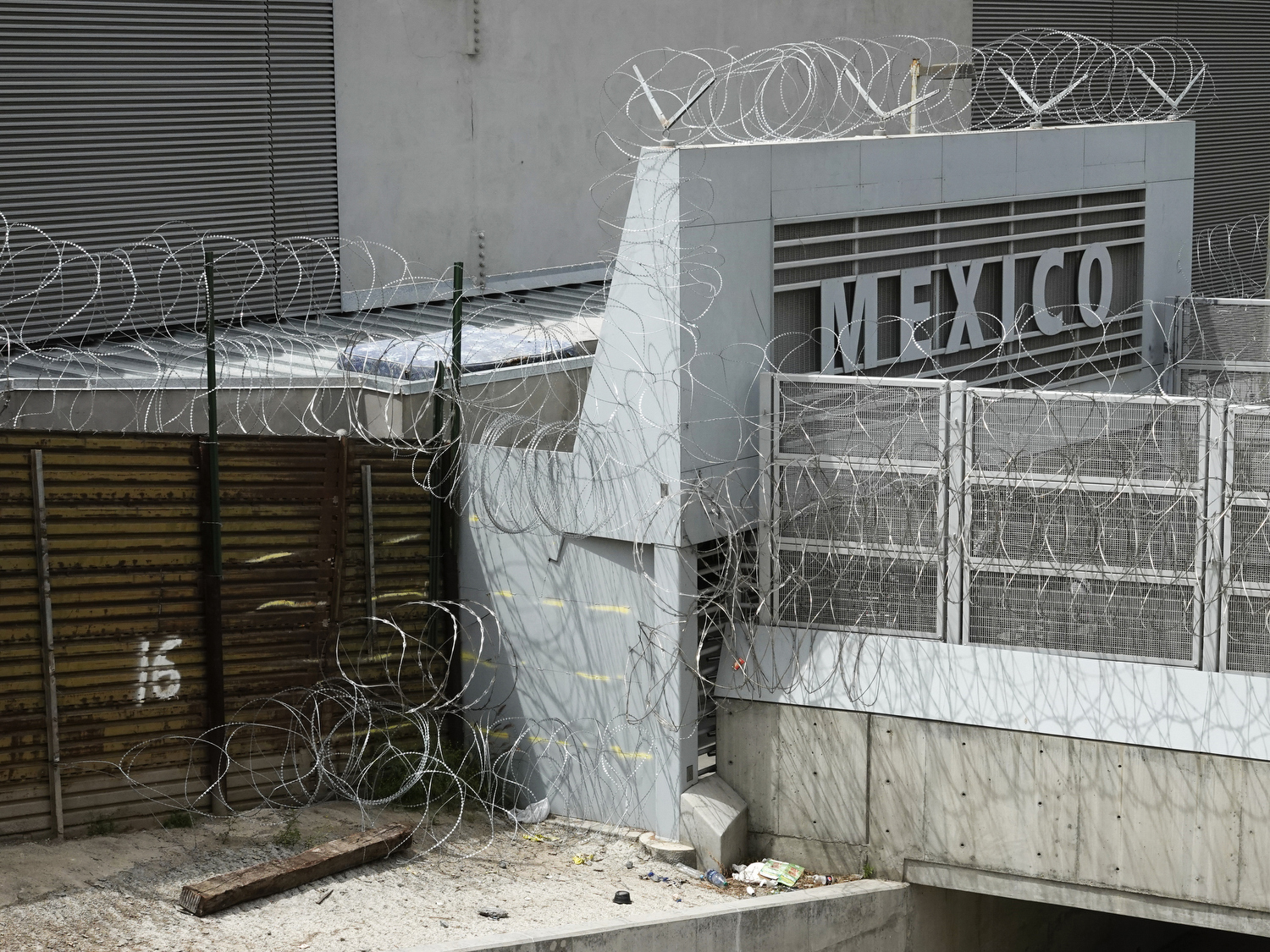 2019. San Diego, California. USA. Entrance to Mexico at the Mexico-USA border between San Diego and Tijuana.