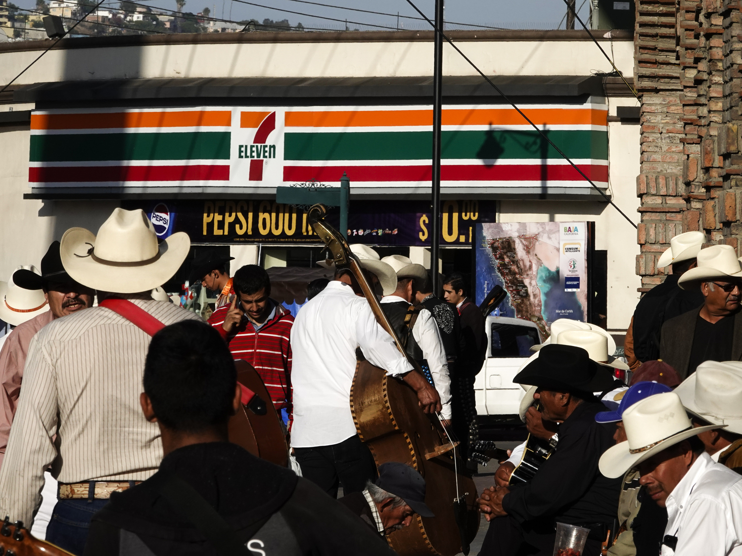 2019. Tijuana. Mexico.  Scenes from Tijuana by the PedWest crossing point, a main pedestrian border crossing between Mexico-USA.