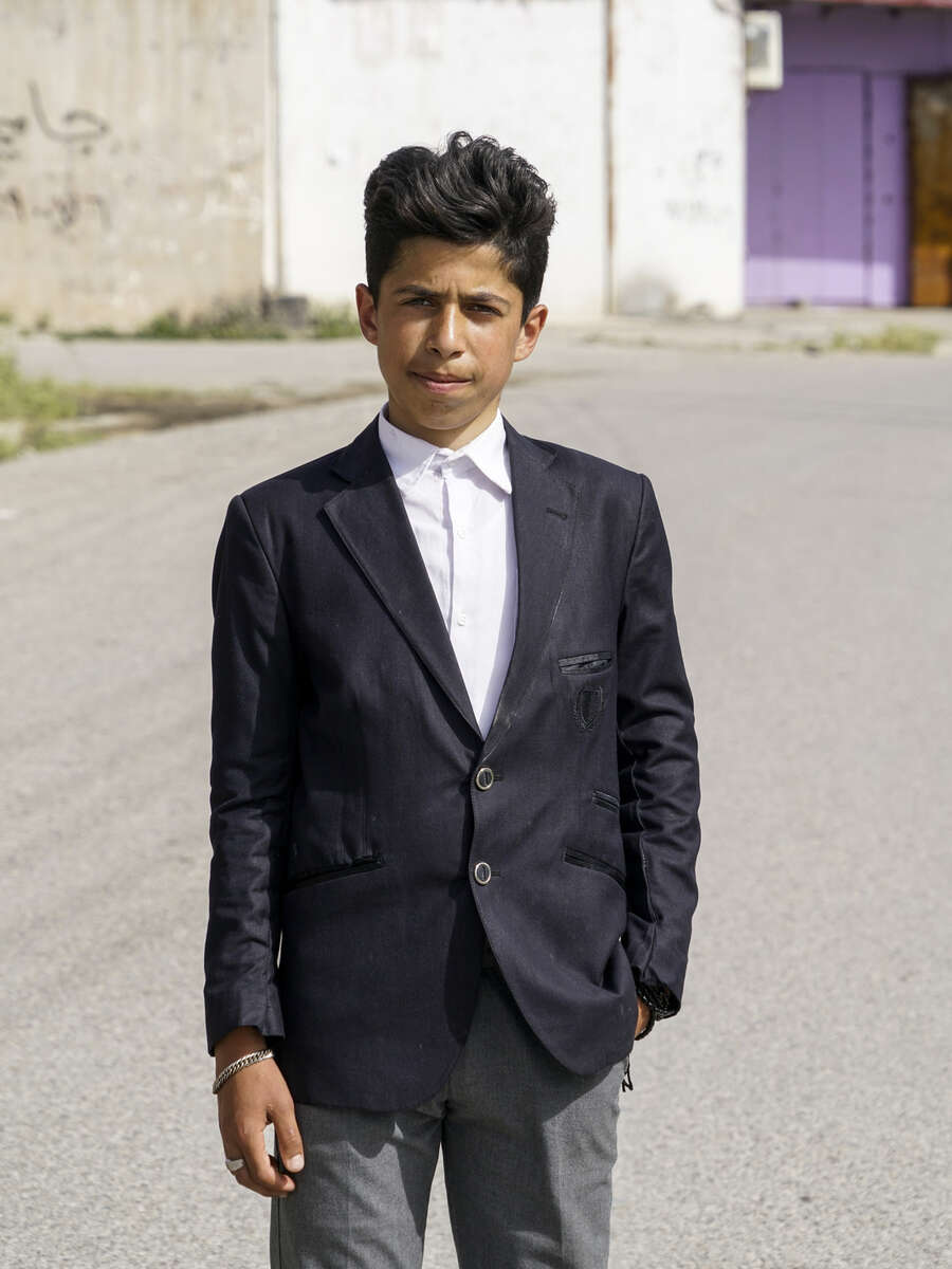 2017. Bashiqa. Iraq. Portrait of a Yazidi boy in Bashiqa.