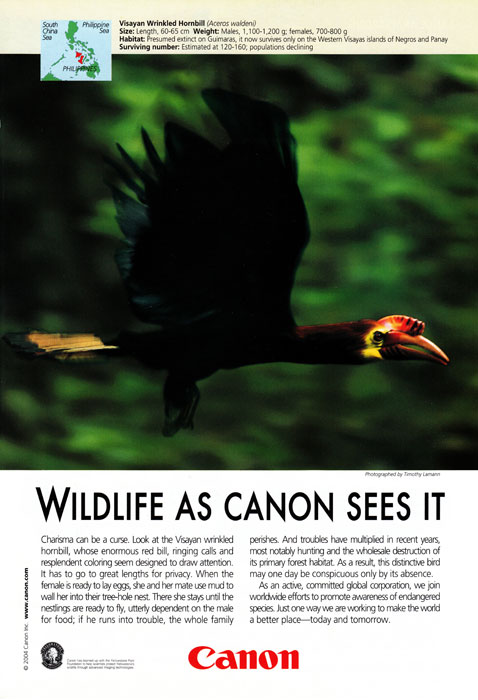 Canon Ad in National Geographic - February 2004