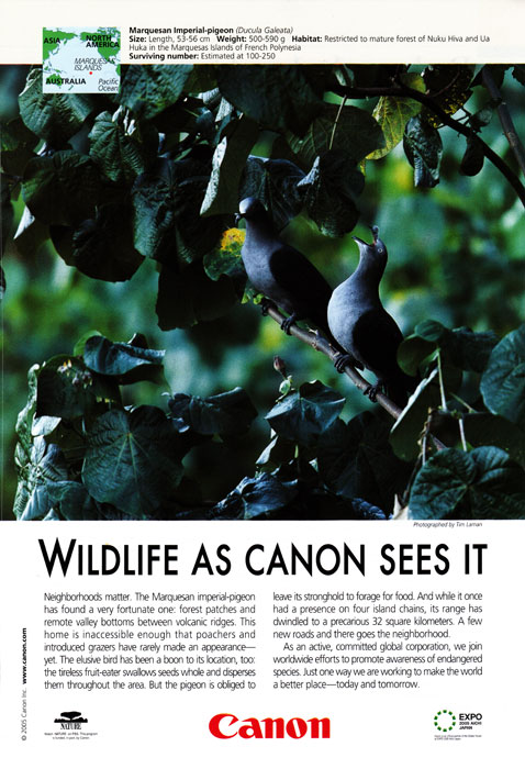 Canon Ad in National Geographic - July 2005