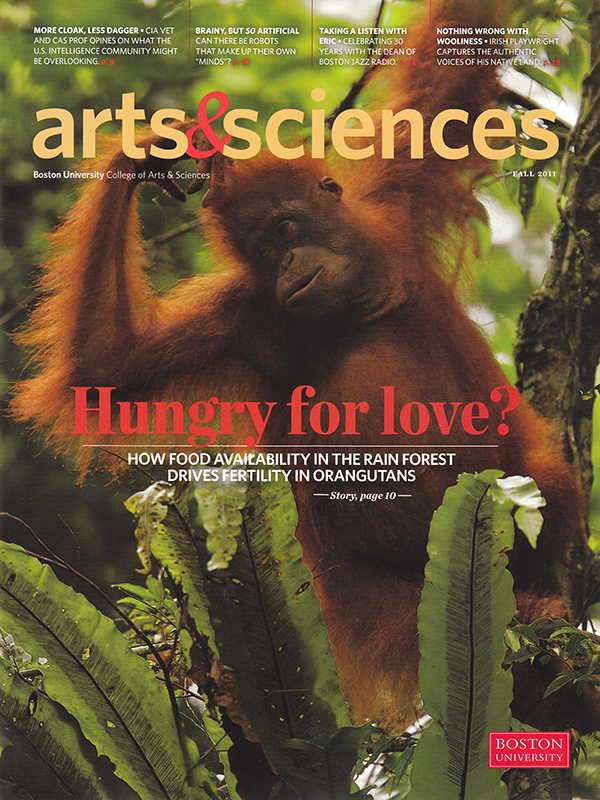 -- This cover story includes 9 pictures on orangutans.  To see more photographs visit Tim Laman's orangutan gallery.