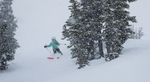 Jessica Laman (age 9) skiing at Whistler Mountain.
