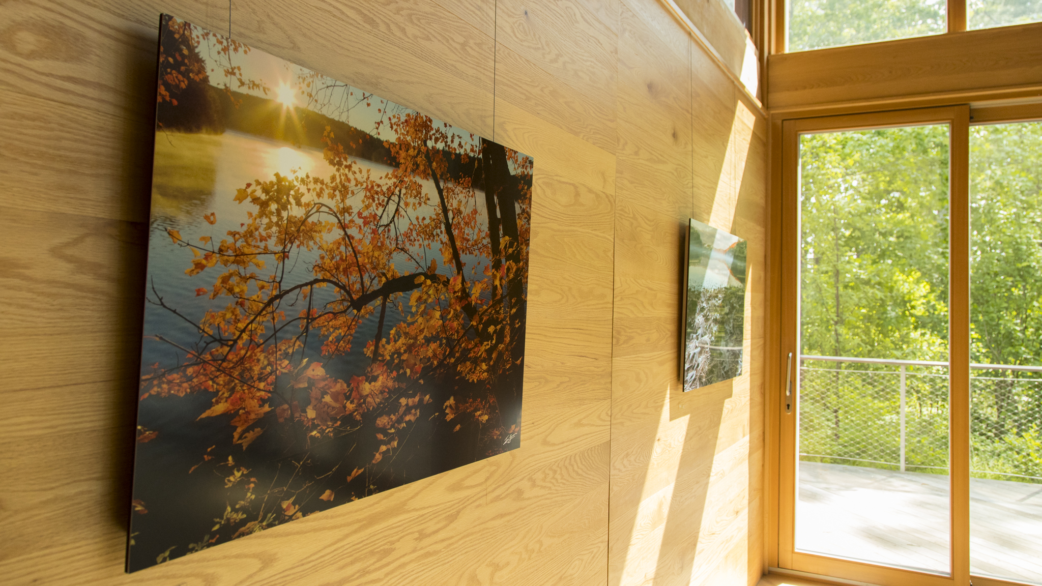 Two 40 inch prints on display at the Walden Pond State Reservation Visitor's Center, Concord, MA.