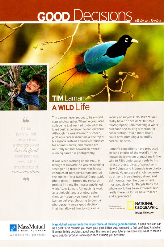 Advertorial on Tim in National Geographic - Oct 08