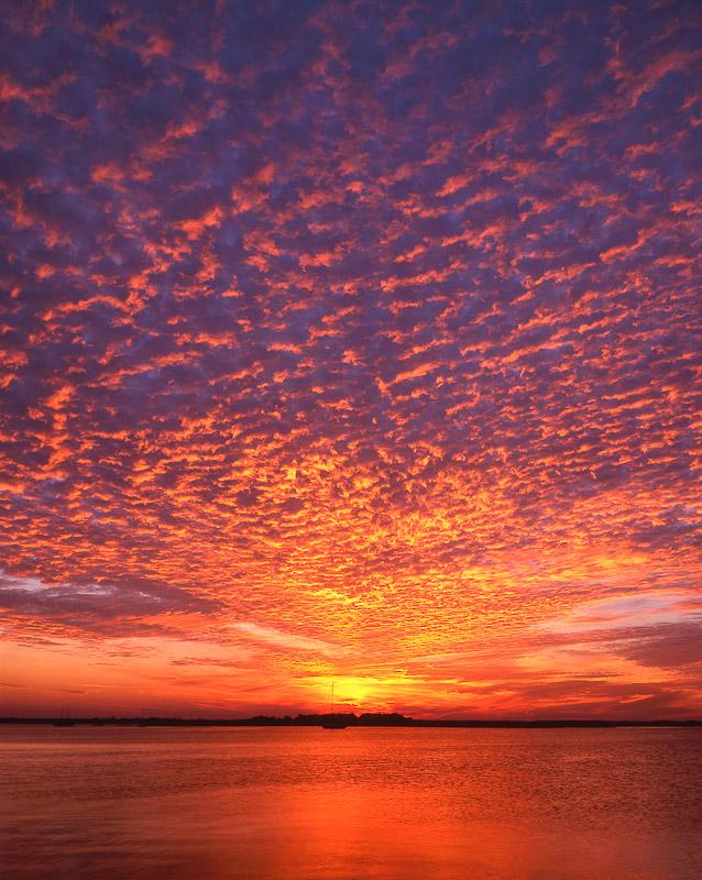 Sunset from the Fernandina Beach Marina, Fernandina Beach, Amelia Island, FL