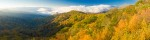 Panorama-Deep Creek Valley from Newfound Gap Road, Great Smoky Mountains National Park