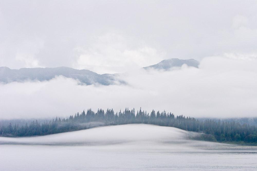 Fog in Glacier Bay, Glacier Bay National Park and Preserve, Alaska