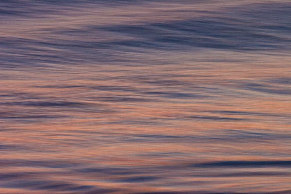 Motion blur study on a beach before sunrise, Chincoteague Island National Wildlife Refuge, Assateague Island, Virginia