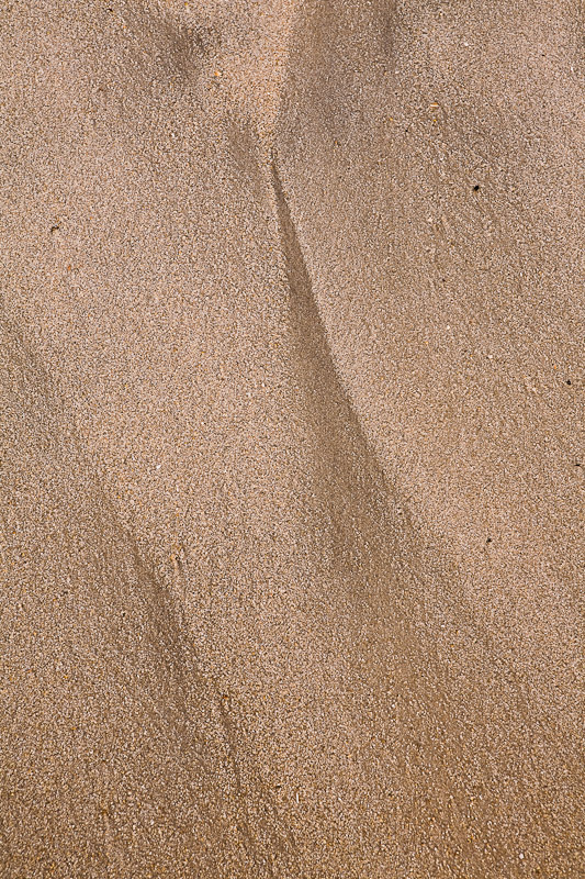 Sand pattern study on the beach before sunrise, Chincoteague Island National Wildlife Refuge, Assateague Island, Virginia