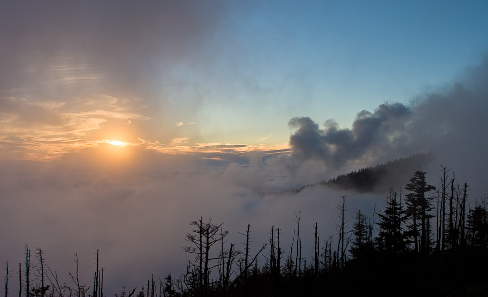 Afternoon Clouds at Clingmans Dome, Great Smoky Mountains National Park, NC