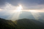 Sunbeams from Roan High Bluff, Roan Mountain, Tennessee