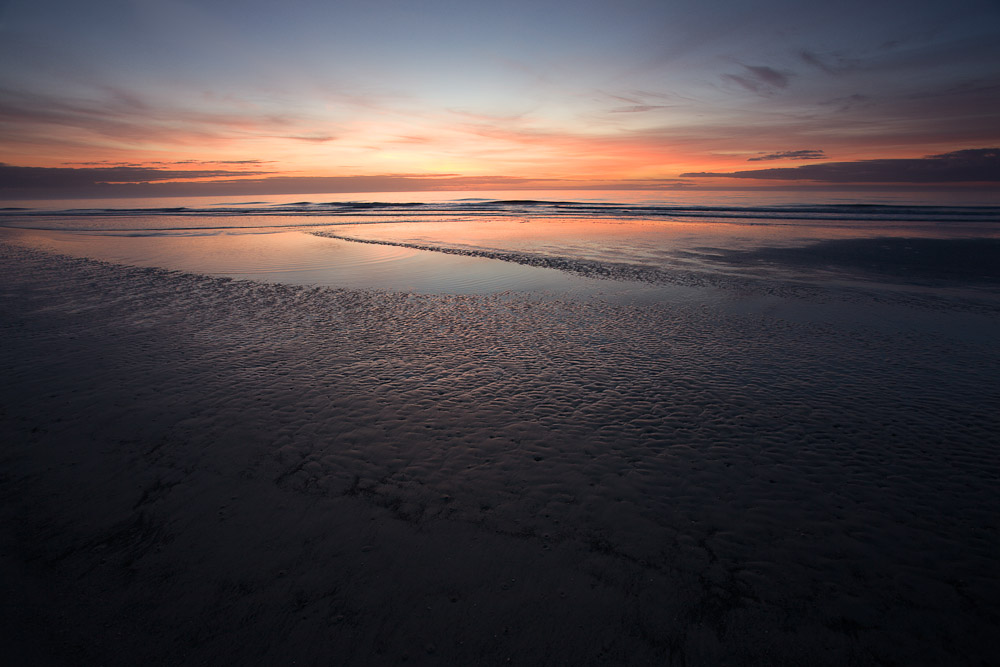 Red sky reflections at sunrise, Hilton Head Island, South Carolina