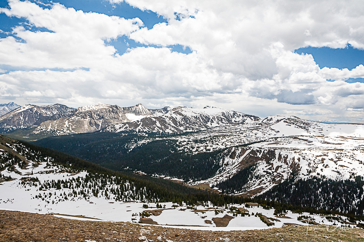 View of the Gore Range from Gore Range overlook in Rocky Mountains National Park