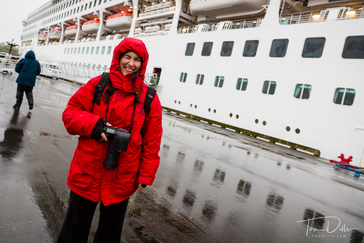 Ship's photographer in Victoria British Columbia