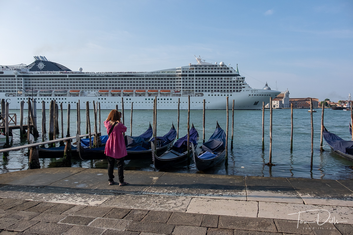 Cruise ship arriving on the Grand Canal in Venice, Italy