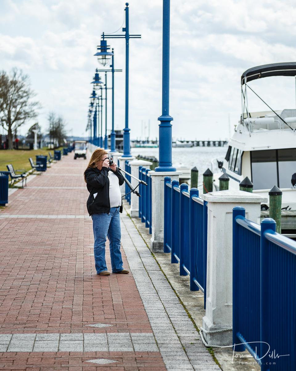 Along the Pamlico River waterfront in Washington, North Carolina