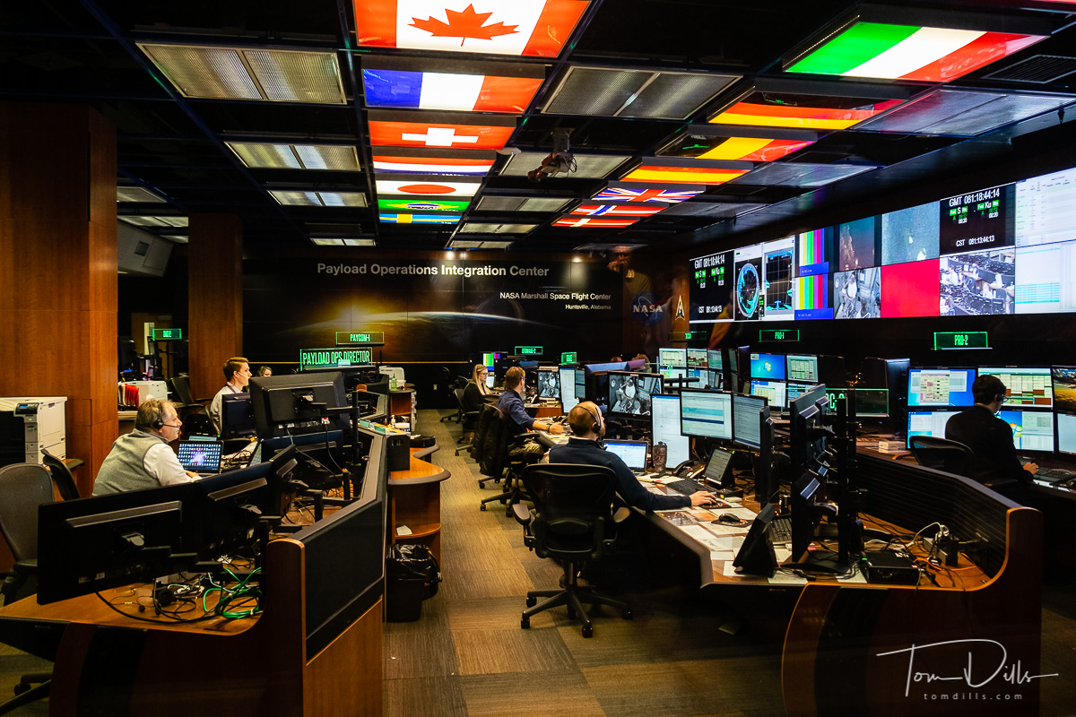 Control Room at the Payload Operations Integration Center at NASA Marshall Space Flight Center in Huntsville, Alabama