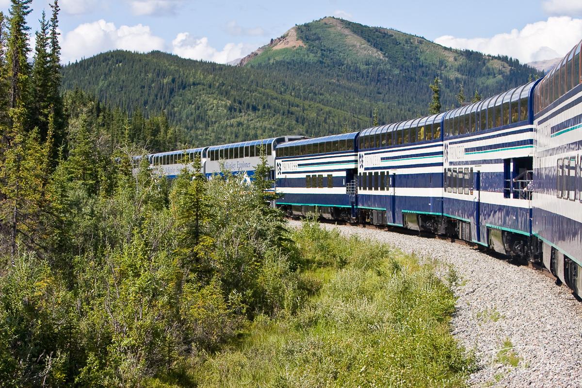 Alaska Railroad from Anchorage to Denali National Park, Alaska