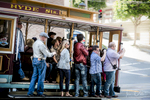 Famous Cable Car in San Francisco, California